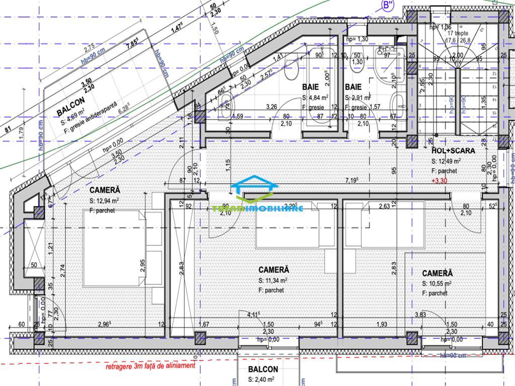 Duplex Andrei Muresanu 4 Camere 3 Bai + Terasa Circulabila cu panorama