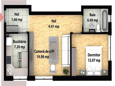 Apartament cu 2 camere decomandate - zona Subcetate - Poligon