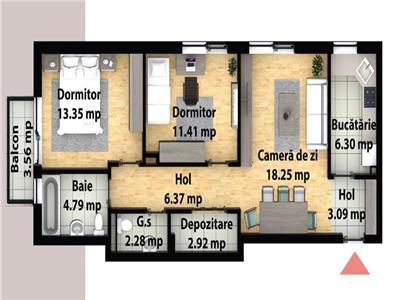 Apartament cu 3 camere decomandate - zona Subcetate - parc poligon