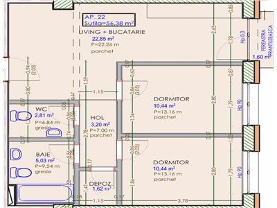 Apartament 3 camere - SEMICENTRAL - Zona Strazii Horea - Bloc Nou